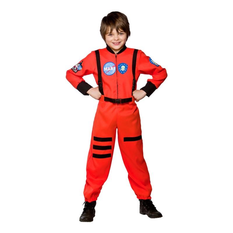 Astronaut Orange Barn Maskeraddräkt - Small
