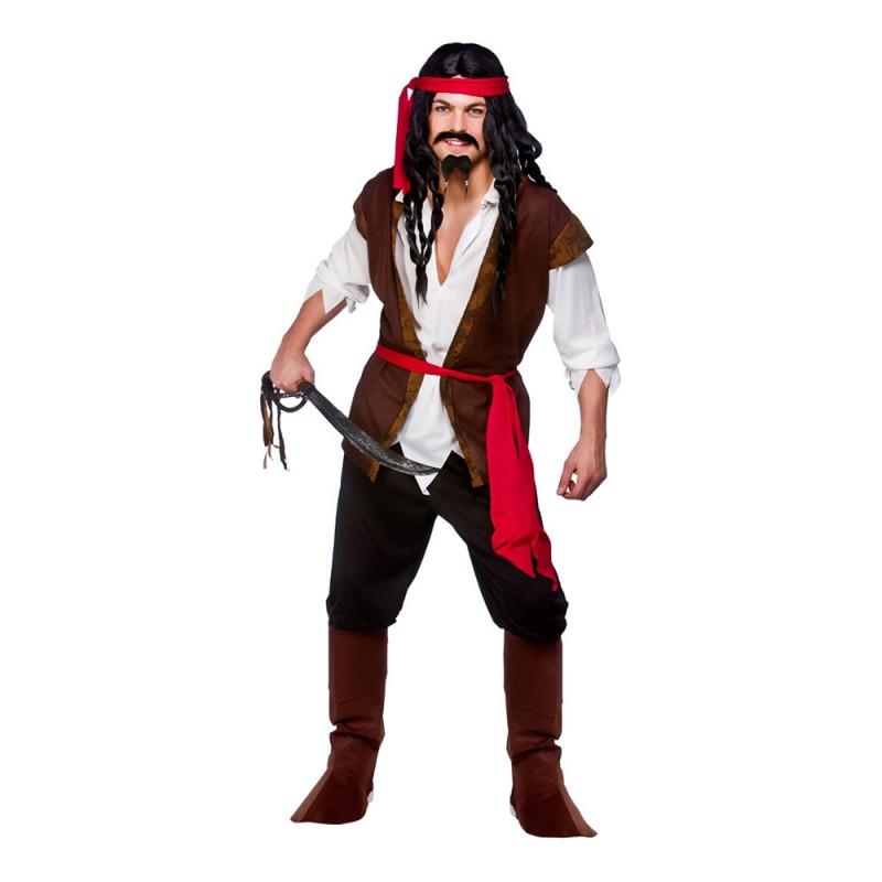 Karibisk Pirat Budget Maskeraddräkt - Medium