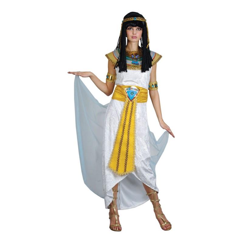 Drottning Cleopatra Vit Maskeraddräkt - Medium