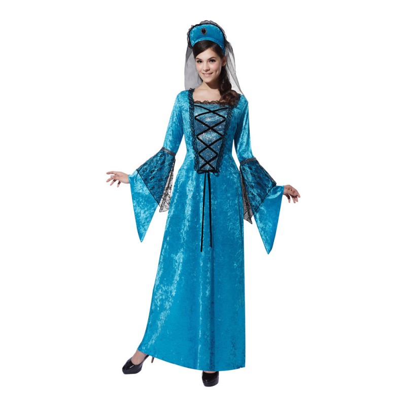 Medeltids Prinsessa Maskeraddräkt - One size