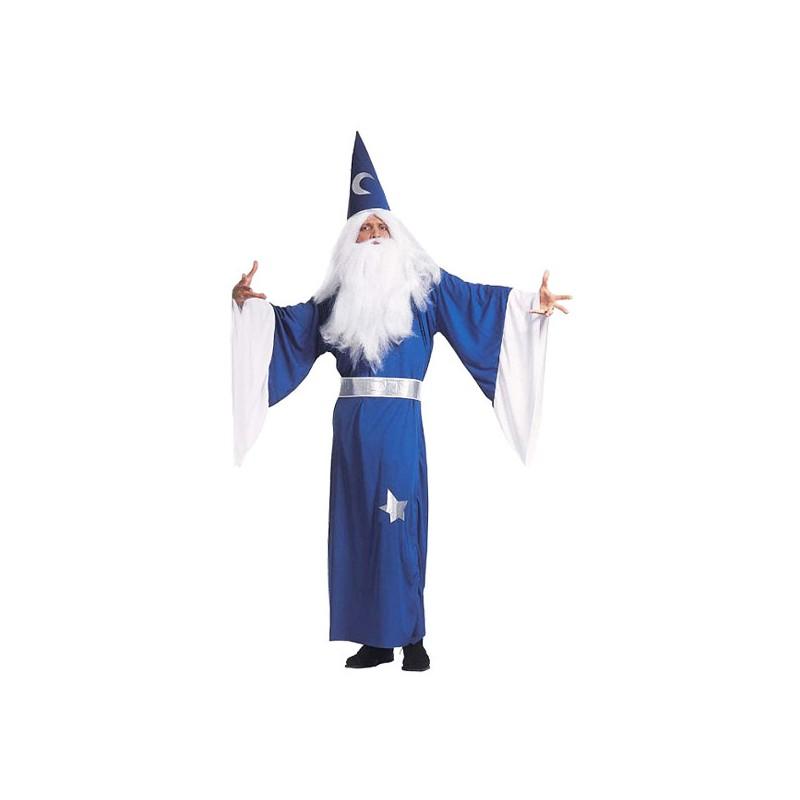 Blå Trollkarl Maskeraddräkt - Small