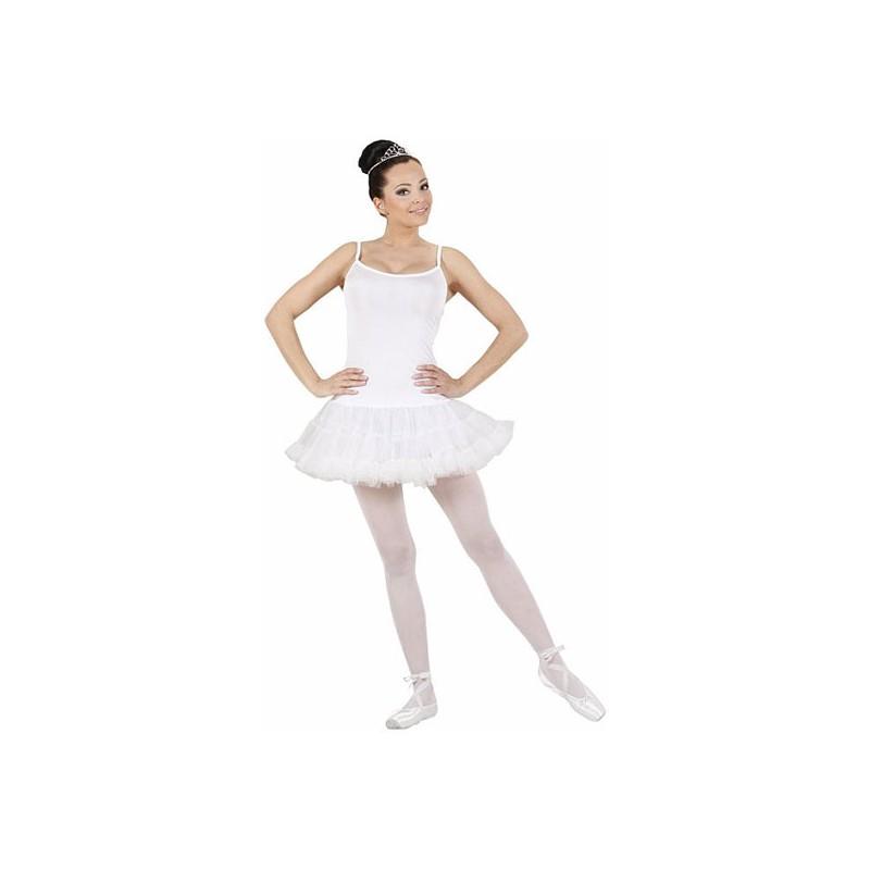 Ballerina Vit Maskeraddräkt - Small
