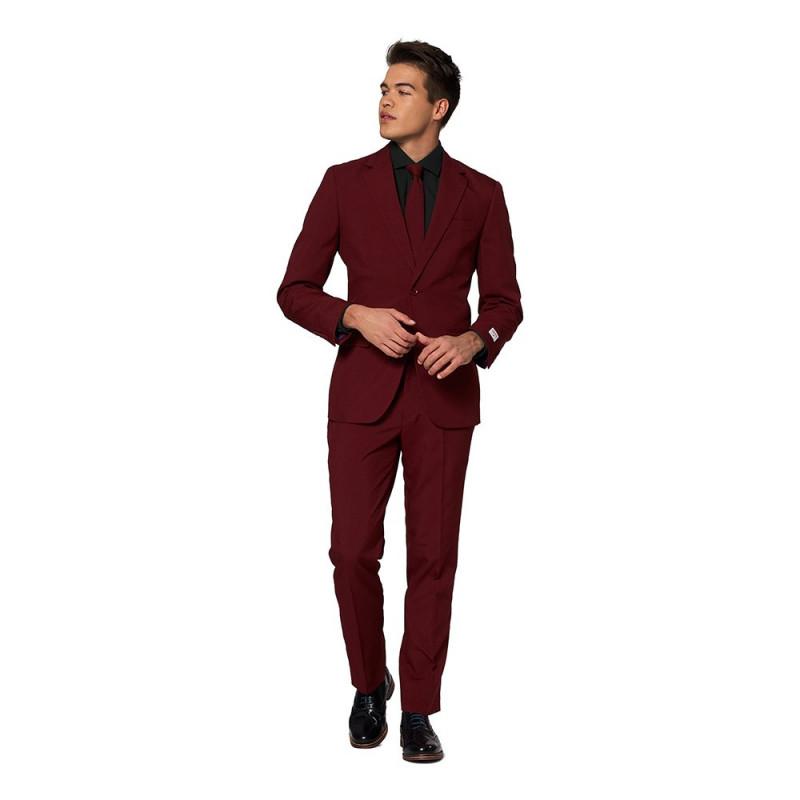 OppoSuits Burgundy Kostym - 48