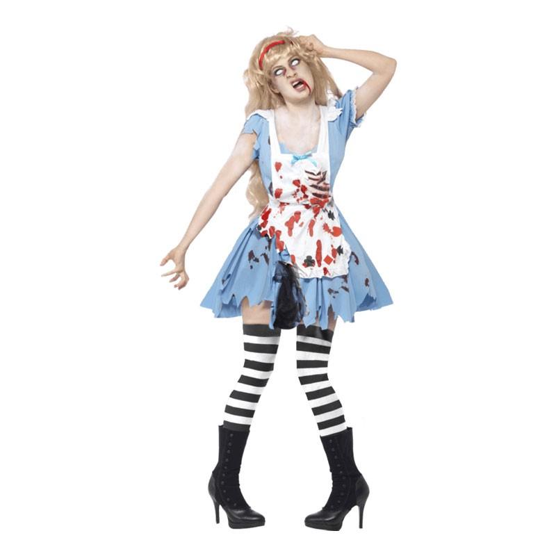 Zombie Alice Maskeraddräkt - Small