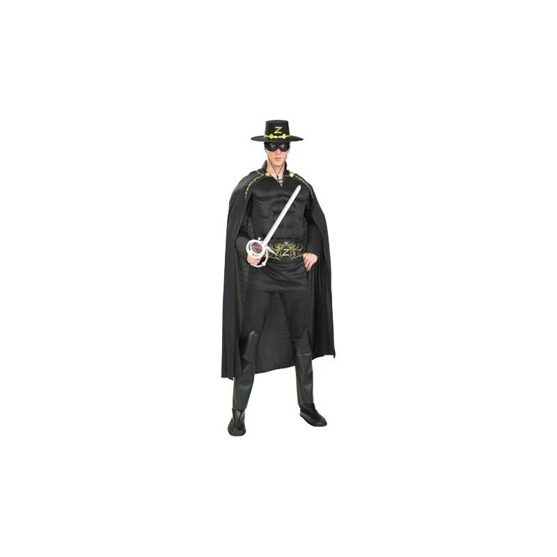 Zorro med Muskler Maskeraddräkt - Standard
