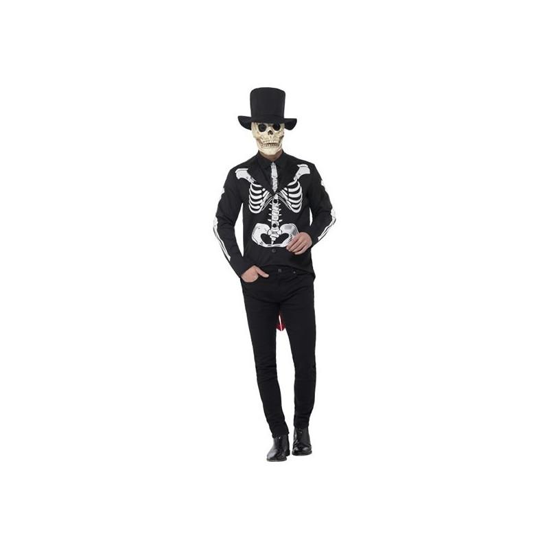 Day of the Dead Señor Skelett Maskeraddräkt - Large