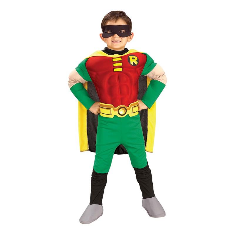 Robin med Muskler Barn Maskeraddräkt - Small