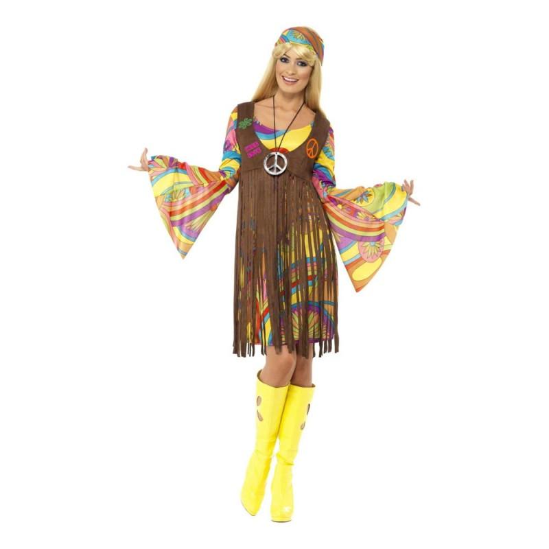 60-tals Groovy Lady Maskeraddräkt - Large