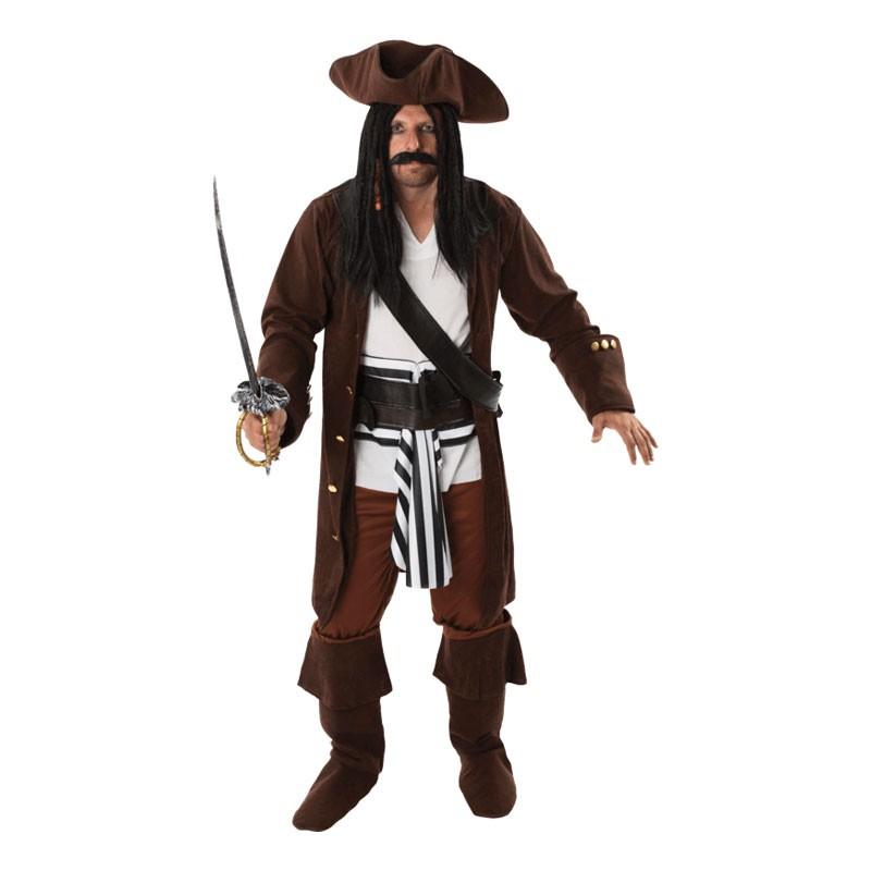 Manlig Pirat Maskeraddräkt - Standard