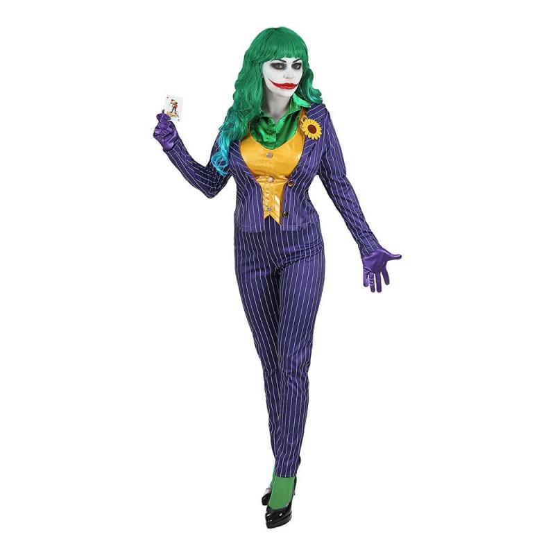 Kvinnlig Joker Maskeraddräkt - X-Large