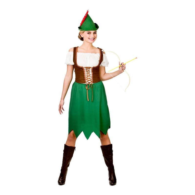 Kvinnlig Robin Hood Maskeraddräkt - Large