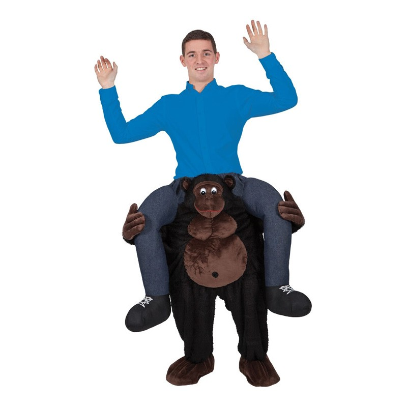 Carry Me Gorilla Maskeraddräkt - One size
