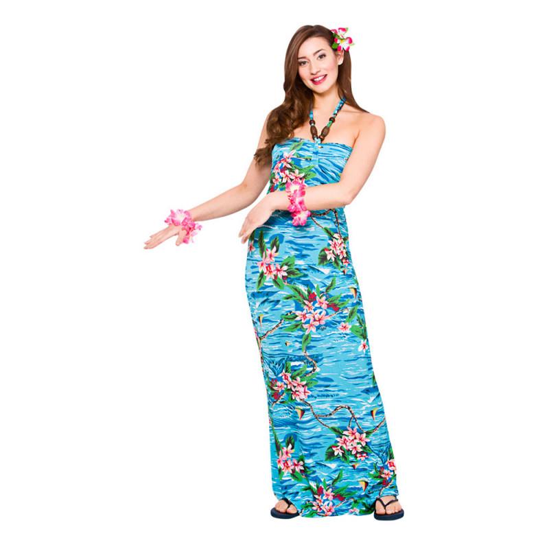 Hawaii Långklänning Maskeraddräkt - Large