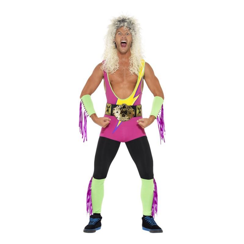 Retro Wrestler Maskeraddräkt - Medium