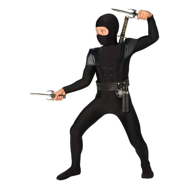 Ninja Bodysuit Barn Maskeraddräkt - Small