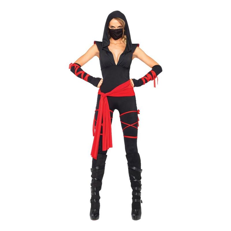 Kvinnlig Ninja Deluxe Maskeraddräkt - Large