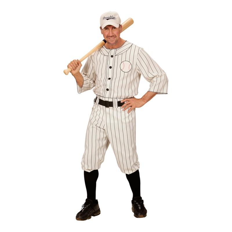 Amerikansk Basebollspelare Maskeraddräkt - Small