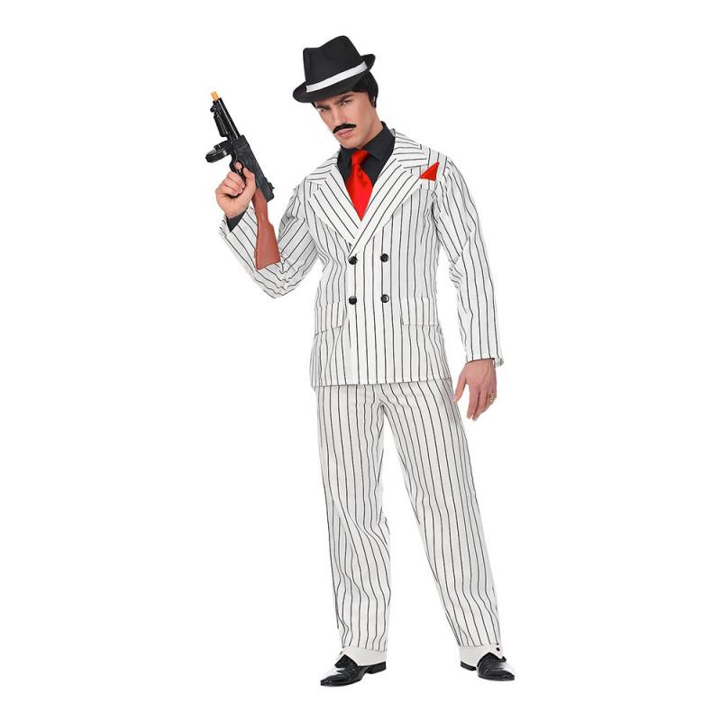 Gangster Vitrandig Maskeraddräkt - X-Large