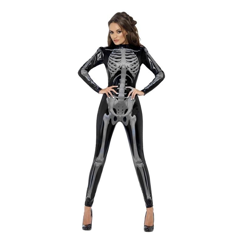 Catsuit Skelett Maskeraddräkt - Medium
