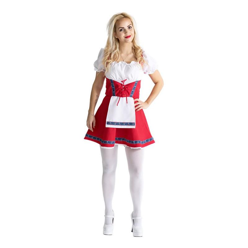 Klänning Röd/Vit/Blå Maskeraddräkt - Small