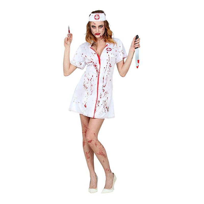 Blodig Sjuksköterska Maskeraddräkt - X-Large