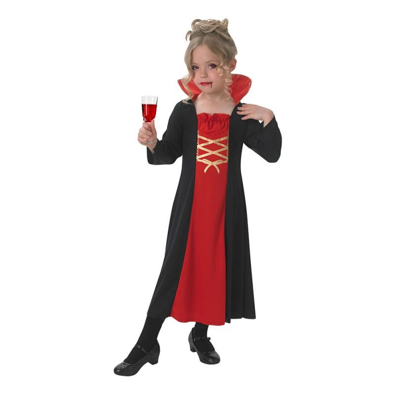 Vampyra Klänning Barn Maskeraddräkt - Small