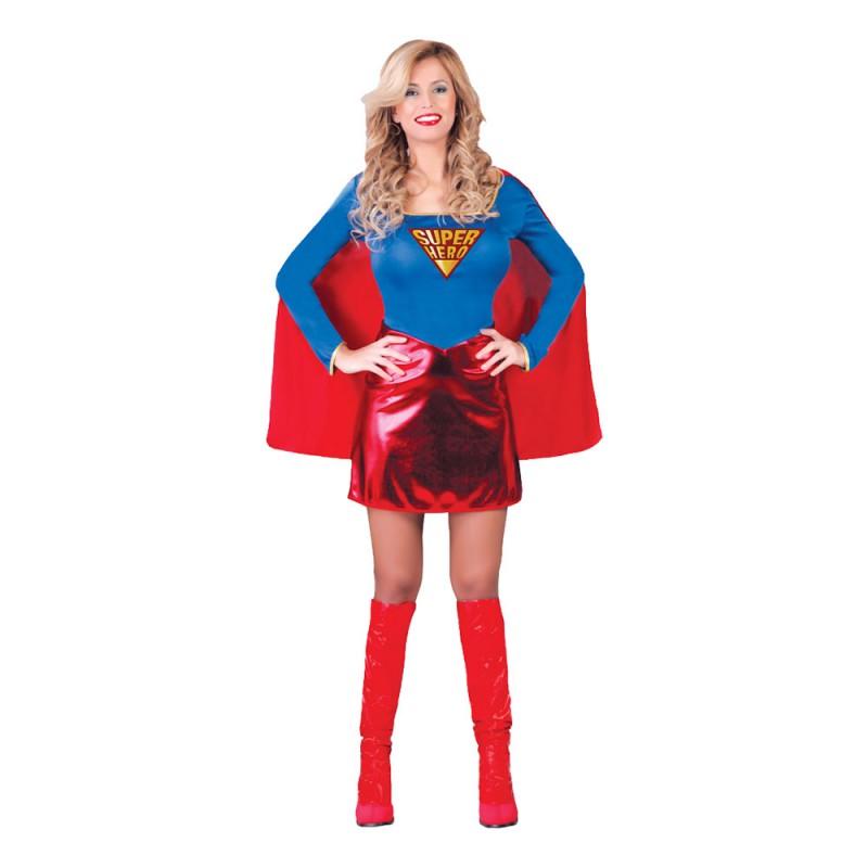 Kvinnlig Superhjälte Maskeraddräkt - One size
