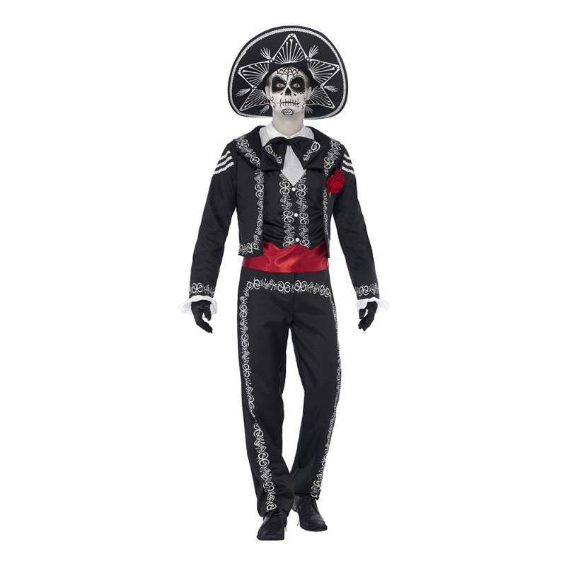 Day of the Dead Señor Bones Maskeraddräkt - Medium