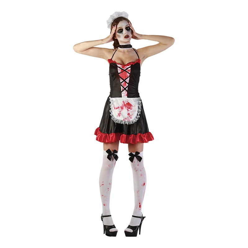 French Maid Blodig Maskeraddräkt - One size