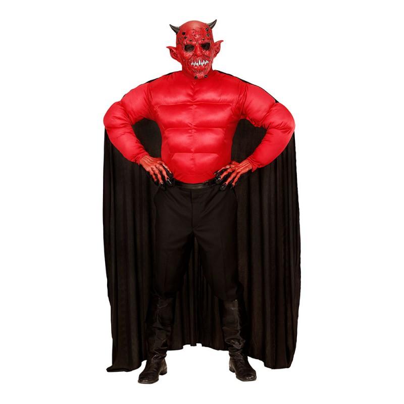 Muskulös Djävul Maskeraddräkt - Small