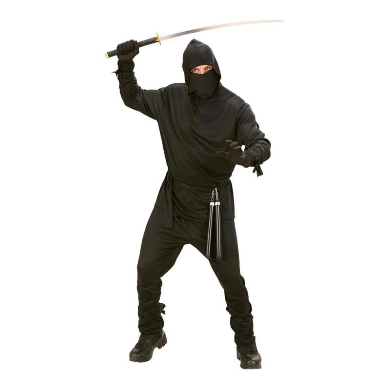 Ninja Svart Maskeraddräkt - Small