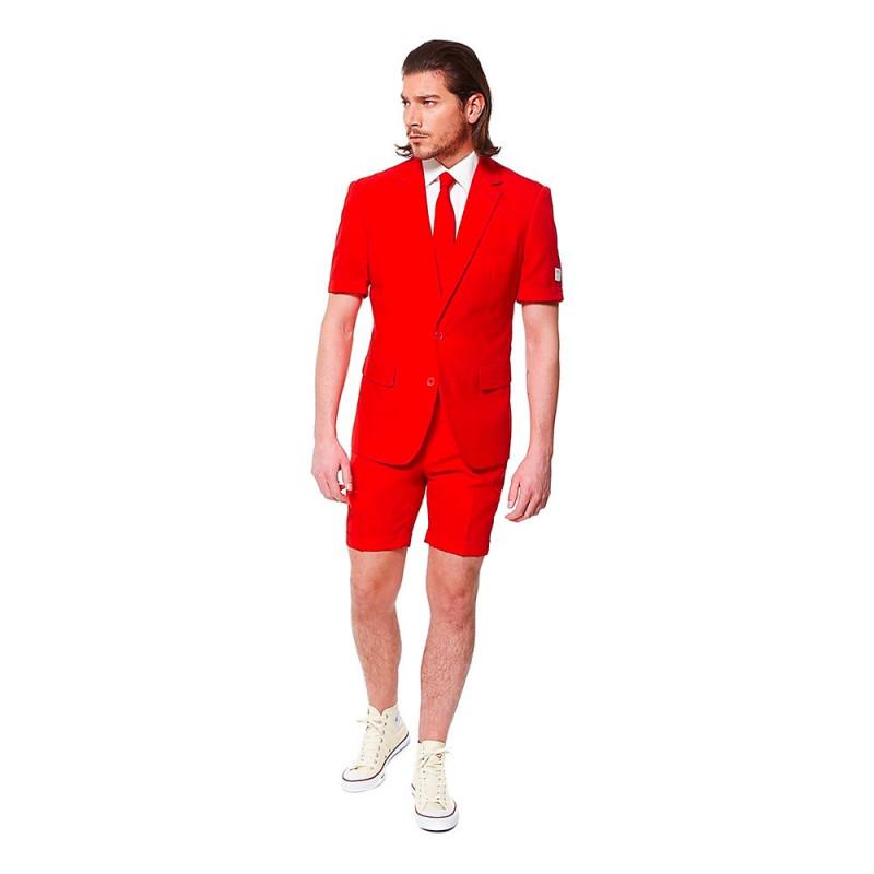 OppoSuits Red Devil Shorts Kostym - 54
