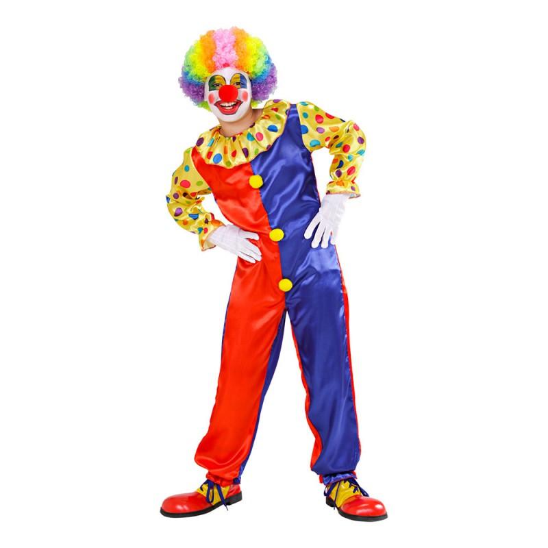 Klassisk Clown Barn Maskeraddräkt - Small