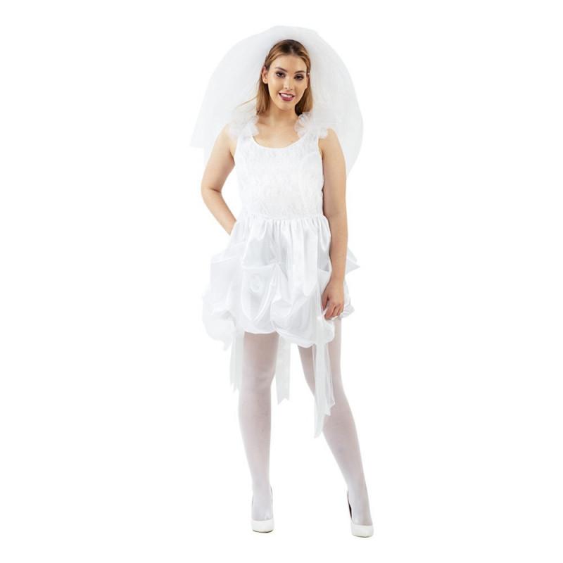 80-tals Brudklänning Maskeraddräkt - X-Large