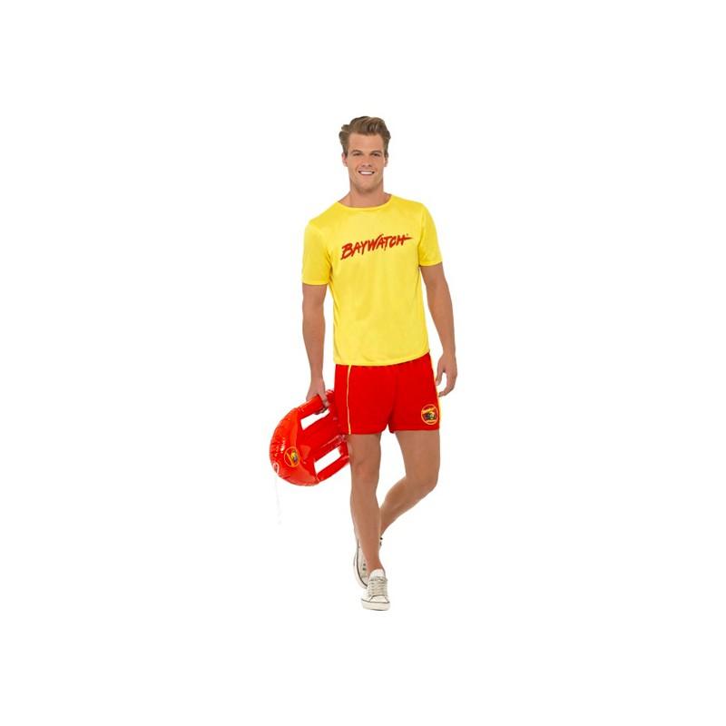 Baywatch med T-Shirt Maskeraddräkt - Medium
