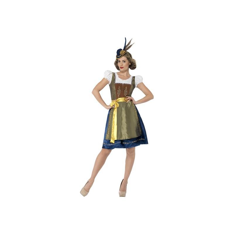 Traditionell Heidi Bavarian Deluxe Maskeraddräkt - Small