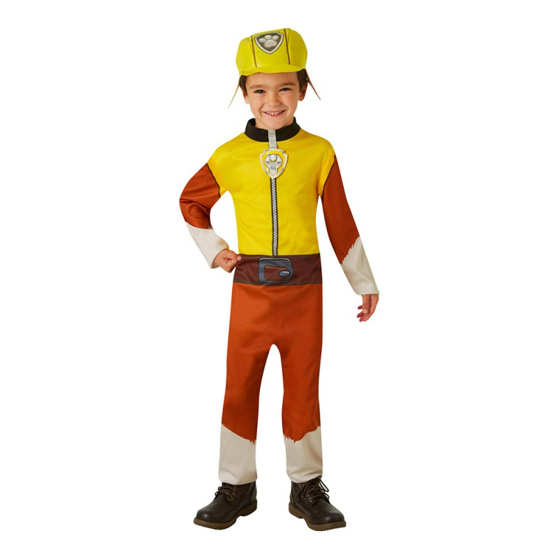 Paw Patrol Rubble Barn Maskeraddräkt - X-Small