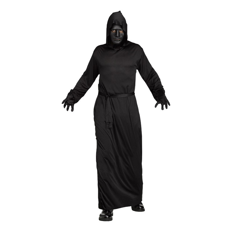 Svart Ghoul Maskeraddräkt - One size