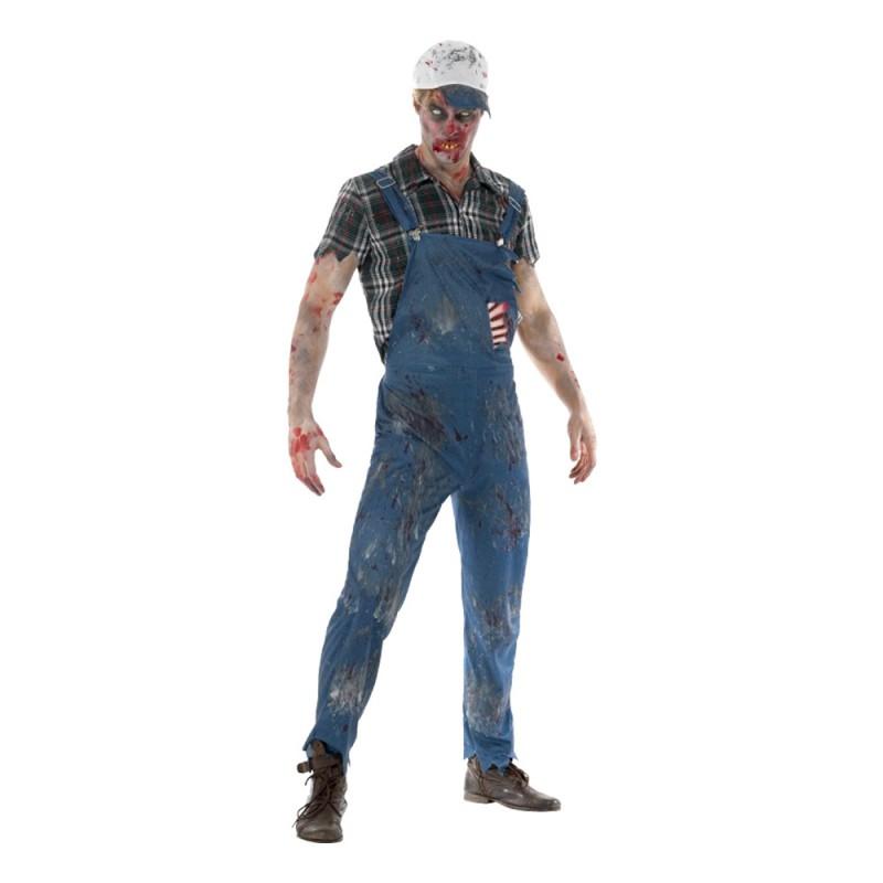 Hillbilly Zombie Maskeraddräkt - Large
