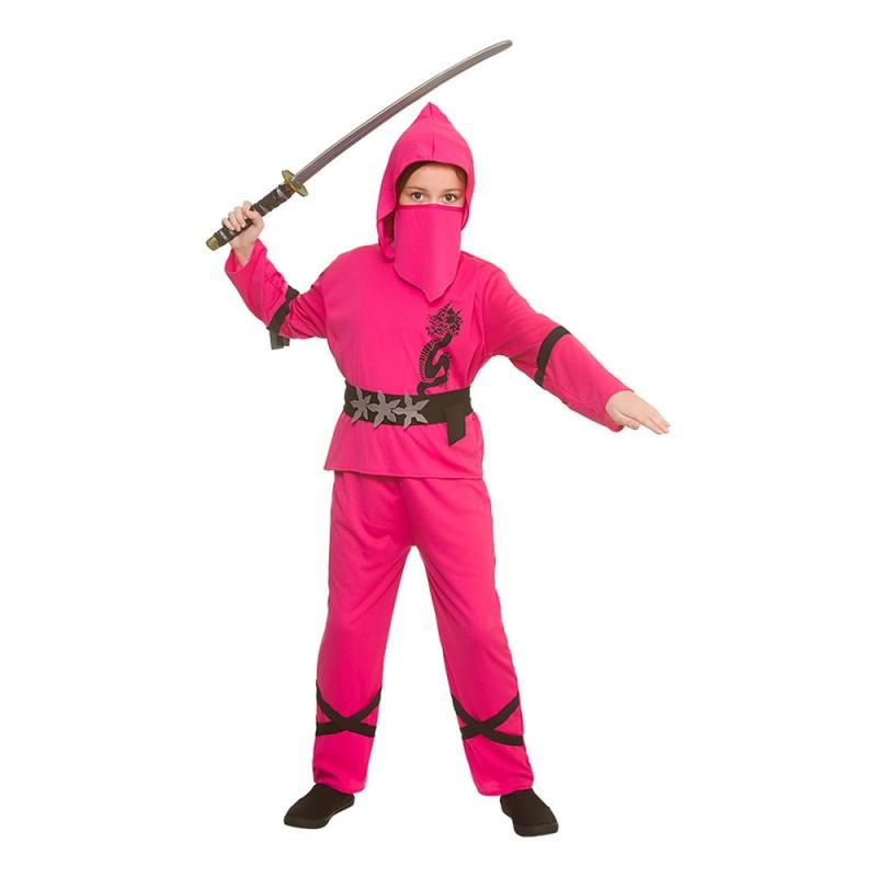 Ninja Rosa Barn Maskeraddräkt - Large