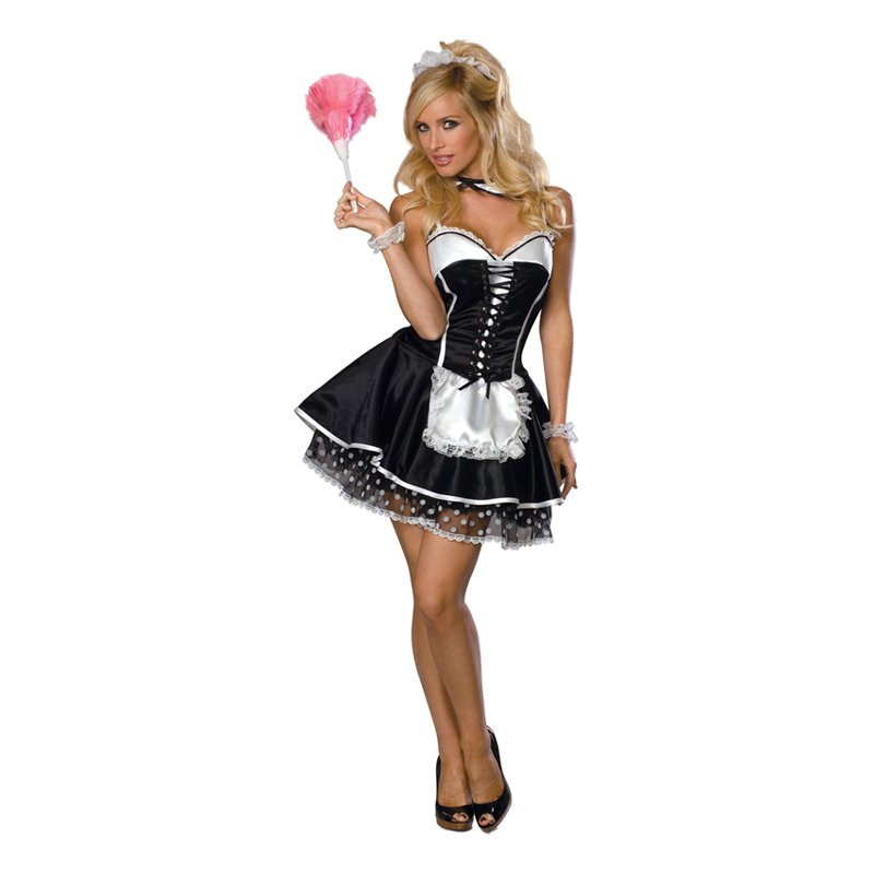 French Maid Maskeraddräkt - X-Small
