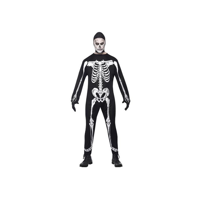 Skelett Jumpsuit Maskeraddräkt - Large