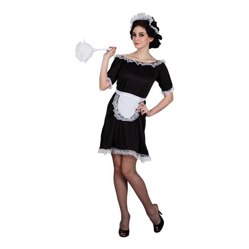 Klassisk French Maid Budget Maskeraddräkt - Medium
