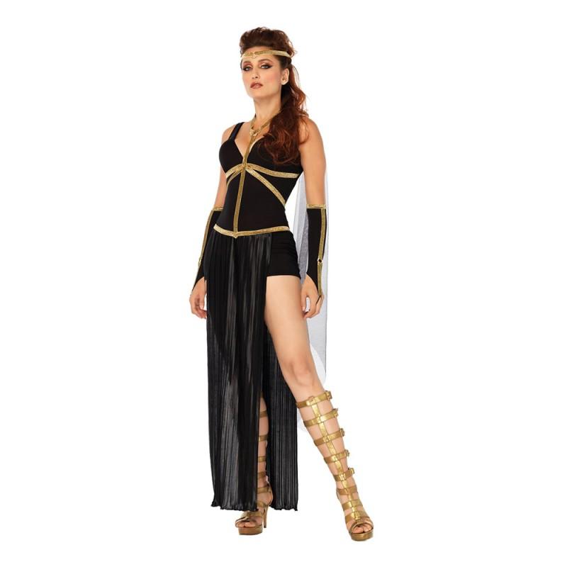 Romersk Svart Gudinna Deluxe Maskeraddräkt - Small