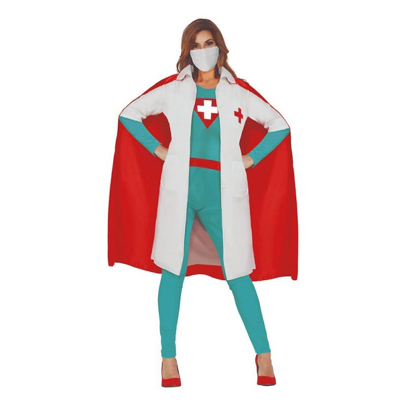 Superdoktor Kvinna Maskeraddräkt - Large