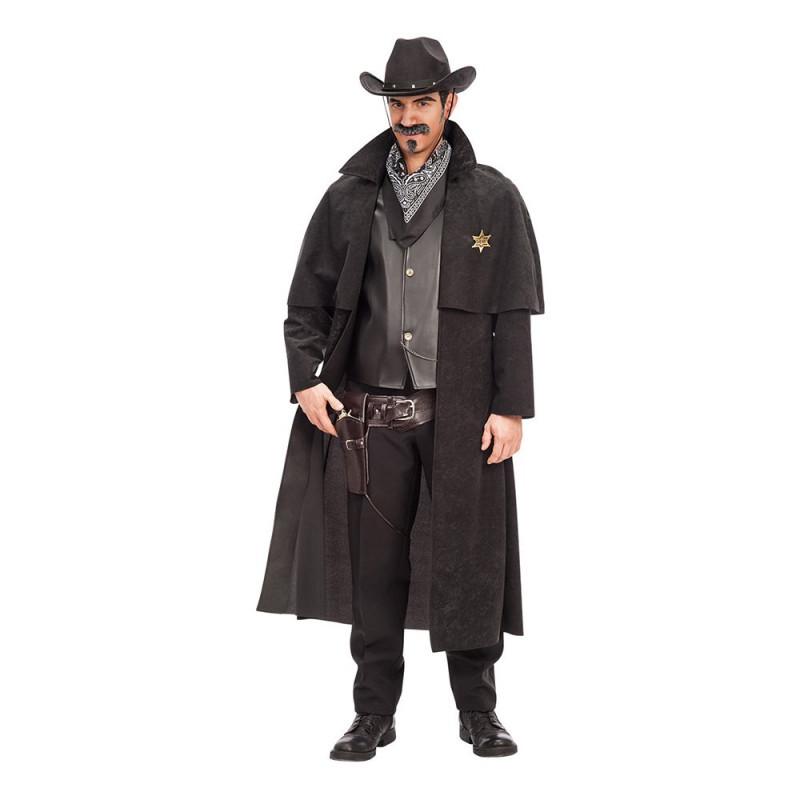 Sheriff Svart Maskeraddräkt - M/L