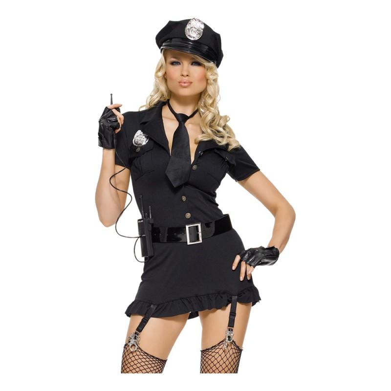 Poliskvinna Deluxe Maskeraddräkt - X-Small