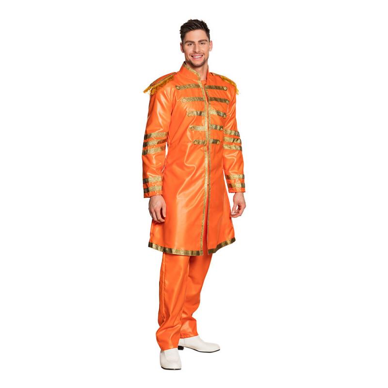 Orange Sergeant Pop Maskeraddräkt - Medium