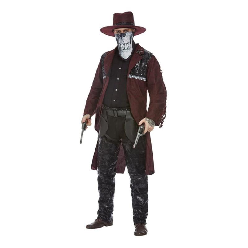Dark Western Cowboy Maskeraddräkt - Medium