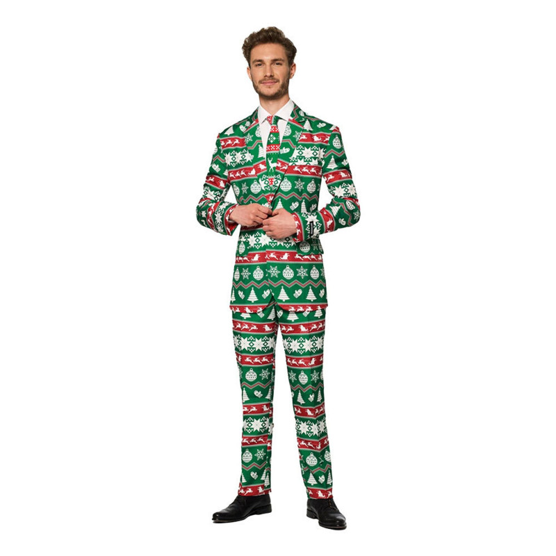 Suitmeister Christmas Green Nordic Kostym - 54